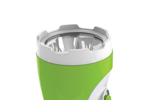 SUNHOUSE PORTABLE FLASHLIGHT SHE-4051 MEDIUM SIZE WHITE GREEN COLOR 001