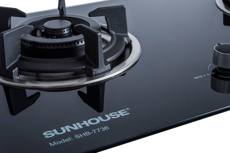 Build in gas on glass hob SUNHOUSE SHB7736 002