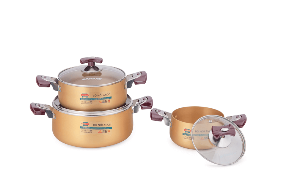 SUNHOUSE anodized cookware set SH6634 003