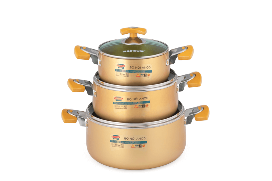 SUNHOUSE anodized cookware set SH8834 001