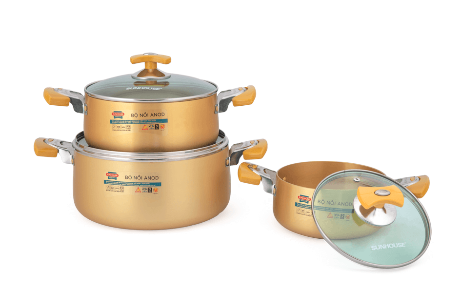 SUNHOUSE anodized cookware set SH8834 002