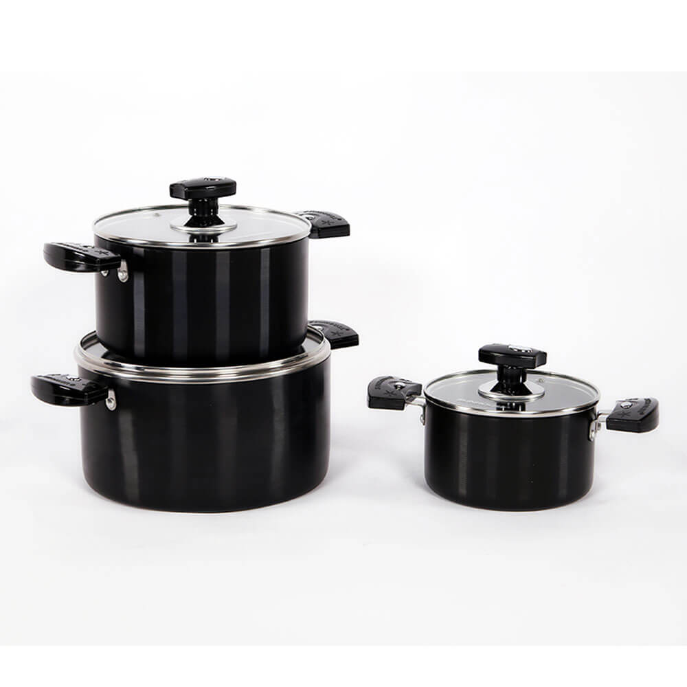 SUNHOUSE anodized cookware set SH8937 001