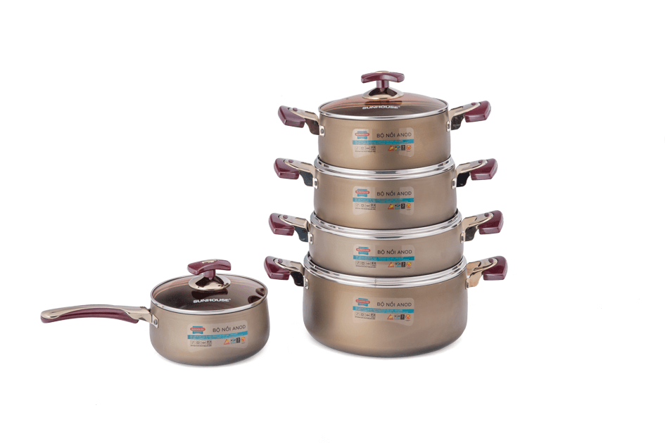 SUNHOUSE anodized cookware set SH9951 002