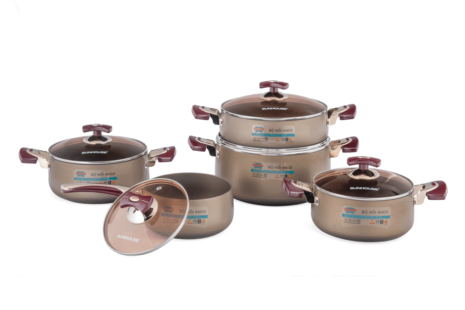 SUNHOUSE anodized cookware set SH9951 003