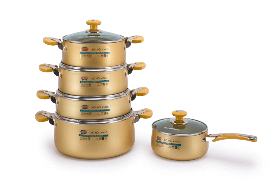 SUNHOUSE anodized cookware set SH9954 001