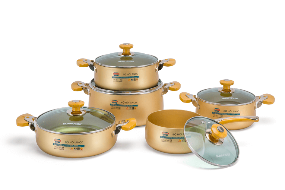 SUNHOUSE anodized cookware set SH9954 002