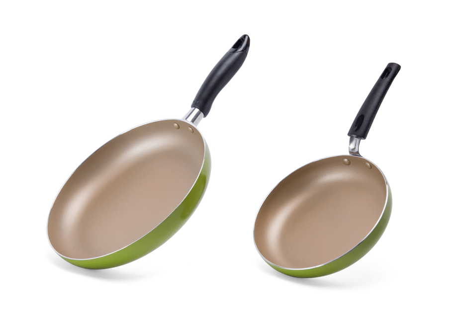SUNHOUSE fry pan set size 18+24 (Champagne Green) 001