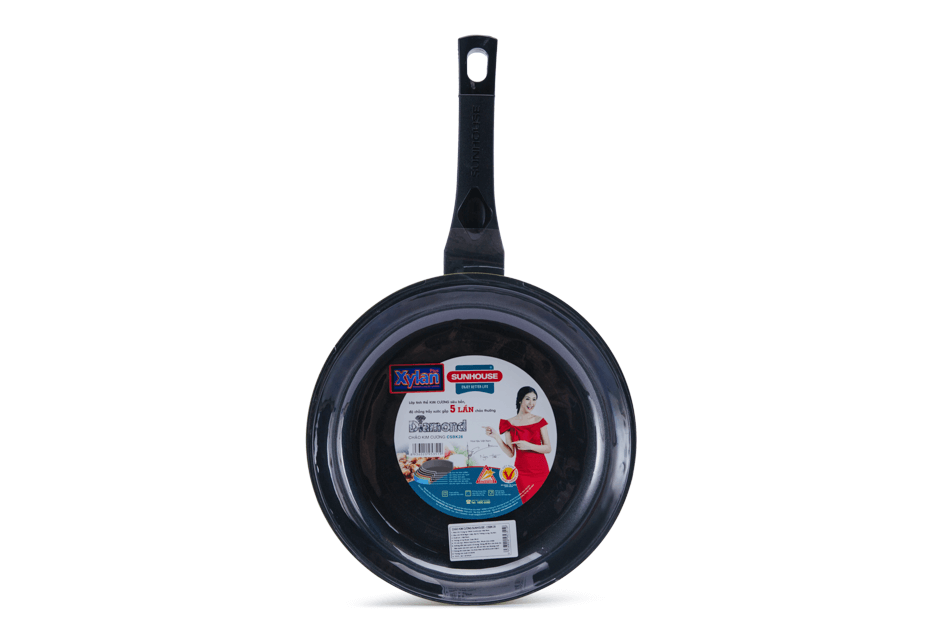 SUNHOUSE DIAMOND FRY PAN CSBK28 002