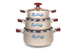 SUNHOUSE anodized cookware set SH9931