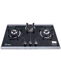 High qualified build in gas on somipress glass hob with 3 burners APEX APB8802