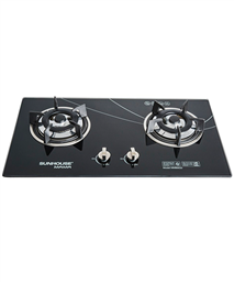 Build in gas on glass hob SUNHOUSE SHB6636