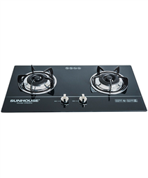 Build in gas on glass hob SUNHOUSE SHB5536