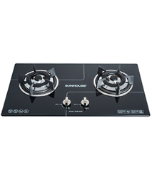 Build in gas on glass hob SUNHOUSE SHB5538
