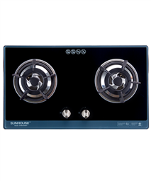 Build in gas on glass hob SUNHOUSE SHB5548MT