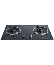 Build in gas on glass hob SUNHOUSE SHB7736