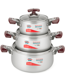SUNHOUSE anodized cookware set SH6633-20 handle type eb (16,20,24)