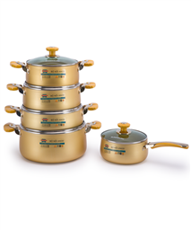 SUNHOUSE anodized cookware set SH9954