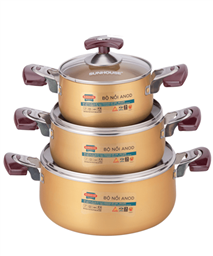 SUNHOUSE anodized cookware set SH6634
