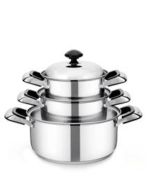 3-piece three-layer-bottom cookware set SUNHOUSE SH768