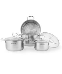 3-piece three-layer-bottom cookware set SUNHOUSE SH893