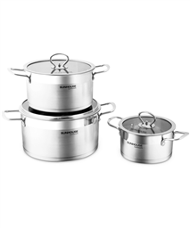 3-piece five-layer-bottom cookware set SUNHOUSE MAMA SH784