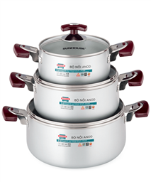 SUNHOUSE anodized cookware set SH8833EB