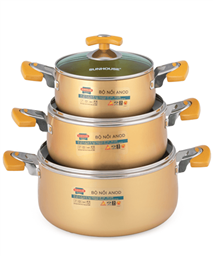 SUNHOUSE anodized cookware set SH8834