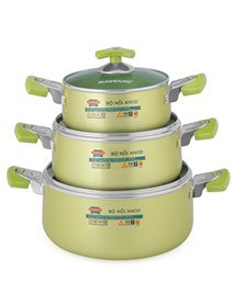 SUNHOUSE anodized cookware set SH8835