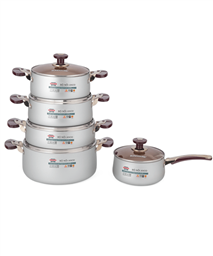 SUNHOUSE anodized cookware set SH9953