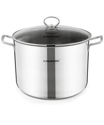 SUNHOUSE 3-layer bottom stainless steel chicken boiling pot  SH28LG