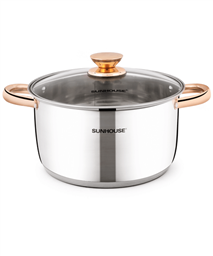 SUNHOUSE five-layer bottom pot SHG24224