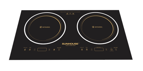 Double Infrared Cooktop